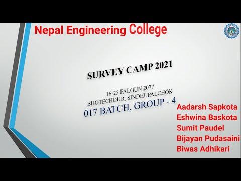 Survey Camp Presentation    017 Batch Civil -1    Group -4    @ Bhotechaur, Sindhulpalchowk