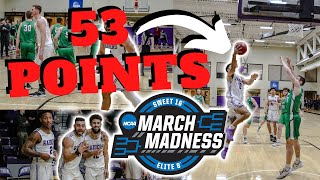 D3 Hooper DROPS 53 Points In A MARCH MADNESS GAME vs a Ranked Team?!