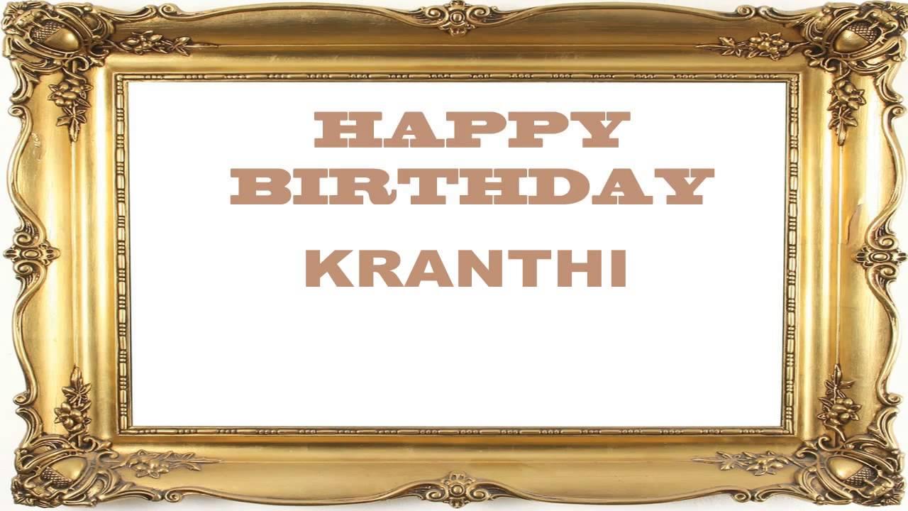 Kranthi Birthday Postcards Postales Happy Birthday Youtube