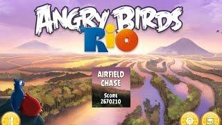 Angry Birds: Rio. Airfield Chase (bonus 4) 3 stars. Прохождение от SAFa
