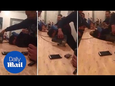 Never saw it coming! Prankster saws around sleeping friend - Daily Mail