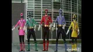mighty morphin power rangers samurai opening dwswh2 version
