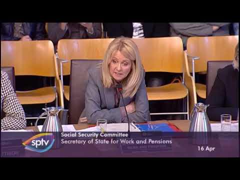 Esther McVey heckled in Holyrood