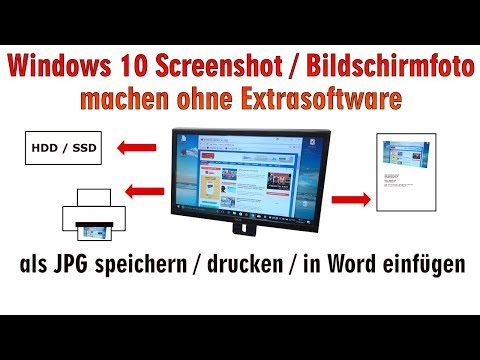 Windows 10 Screenshot Bildschirmfoto Machen Ohne Extrasoftware | Speichern Drucken In Word - [HD]