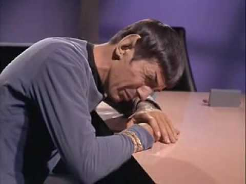 Spock Crying for his writings