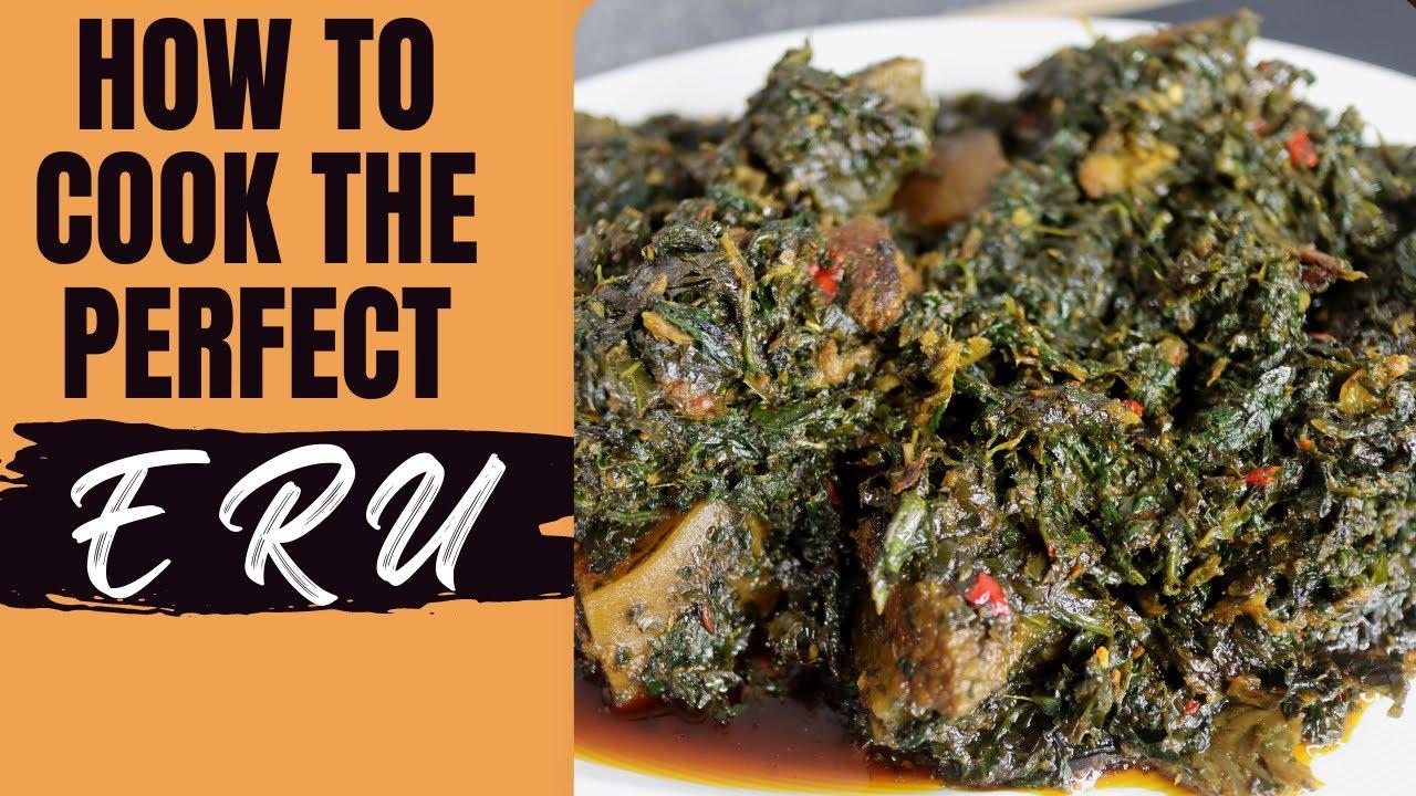 Très FUFU & ERU / RECETTE DE ERU-Cameroon cuisine. - YouTube EL44