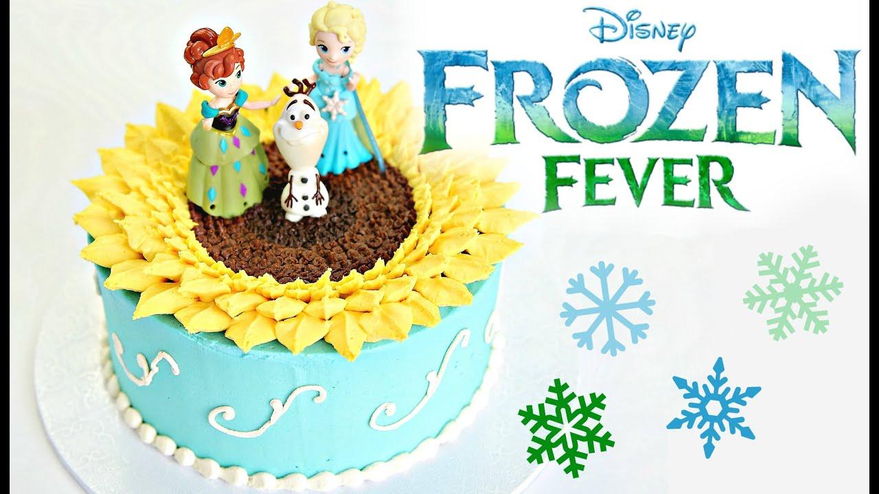 Frozen Fever Sunflower Cake Cake Style Youtube