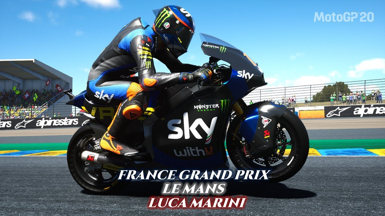 MotoGP™20 | Moto2 Gameplay - France Grand Prix, Le Mans - Luca MARINI  #FranceGP - YouTube