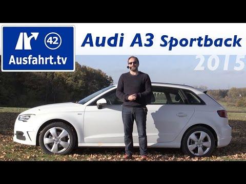 2015 Audi A3 Sportback 2.0 TDI (Vor-Facelift) - Fahrbericht der Probefahrt Test Review
