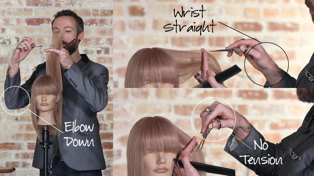 c7bd4fd65d Why Using a Swivel Shear to Cut Hair is More Comfortable - YouTube