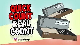 Gambar cover Quick Count dan Real Count - Kartun Lucu bikin ngakak | Bongso Story | Animasi Indonesia Timur