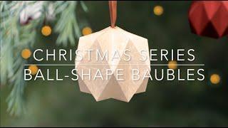 Origami Christmas Ball-Shape Bauble (Level 4: Hard)