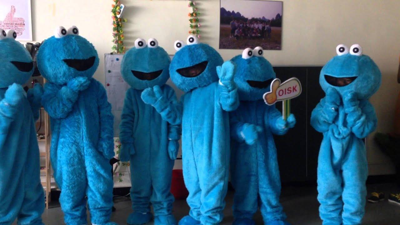 OISK sesame street cookie mascot elmo mascots costumes