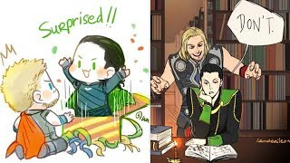 30+ Funny Thor & Loki Comics To Make You Laugh | Thor And Loki Special | Marvel