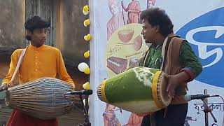 NADIA Nandan Bairagya Sri khol on the occasion of Mongalkote Block Youth Festival 2018. নদীয়া নন্দন