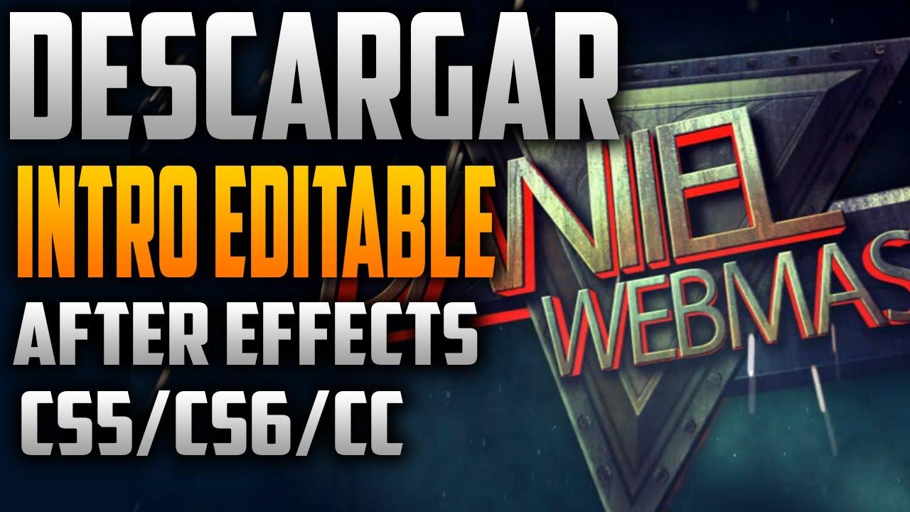 Intro Editable After Effects Cs5 Cs6 Cc Gratis Free