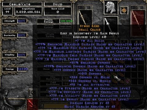Easy to use HACKED Diablo 2 characters 2017