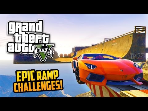 GTA 5 PC Mods - INSANE RAMP STUNTS & CHALLENGES MOD! GTA 5 Ramp Mod Gameplay! (GTA 5 Mods Gameplay)