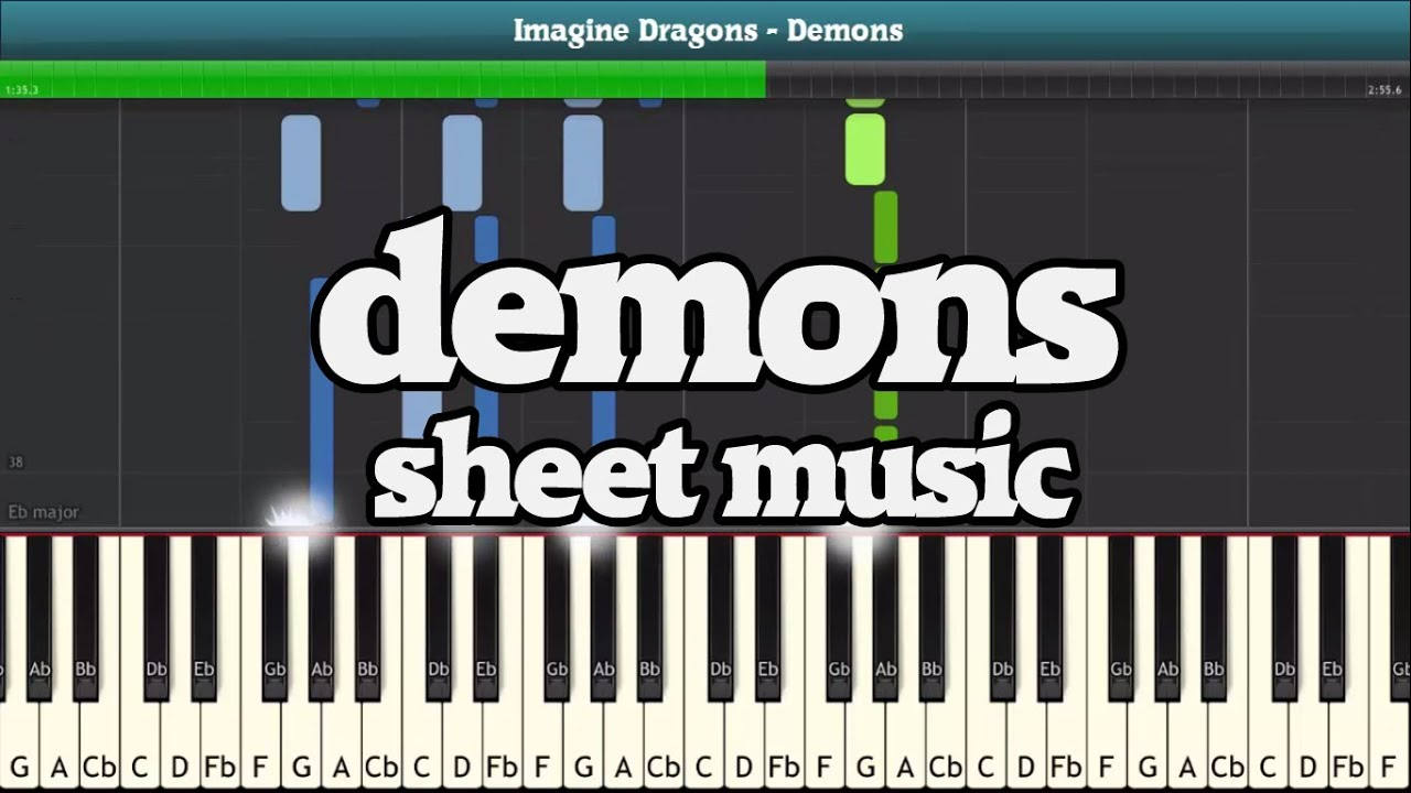 Imagine Dragons Demons Piano Notes Easy