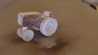 Tractor - wooden toy