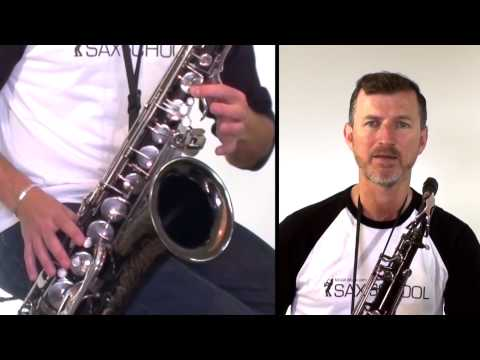 Moondance how to play on tenor saxophone - free lesson from McGill Music Sax School