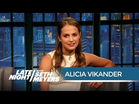 How Alicia Vikander Perfected Her Robot Voice for Ex Machina - Late Night with Seth Meyers