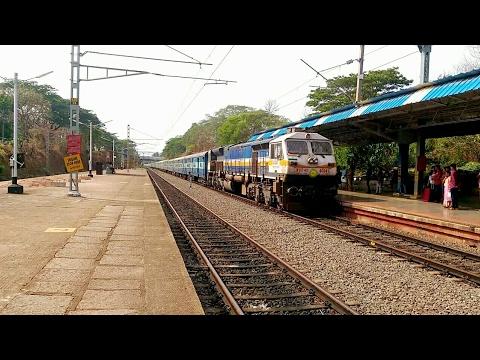 Mangalore Thiruvananthapuram Express announcement & arrival at Kasaragod