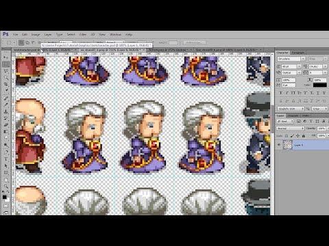 How to Format Sprite Graphics - RPG Maker VX Ace Tutorial