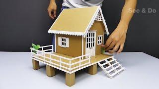 Cardboard House #9  DIY Miniature House | see and do