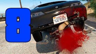 GTA SUPER Epic Fails 3 | CAIDAS CONTRA VEHICULOS | Capitulo 8