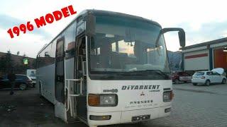 1996 Model Temsa Mitsubishi otobüs inceleme | Sanayide Kaderine Bırakılmış Otobüs | nostaljik otobüs