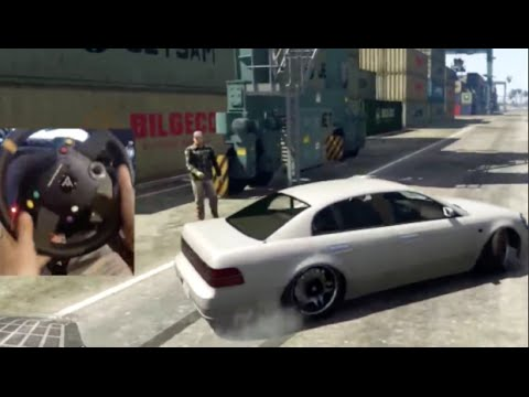 GTA5 MODS PC60fps Testing Real Drift Mod Cars! WheelCam! Docks Drifting