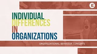 Individual Differences in Organizations