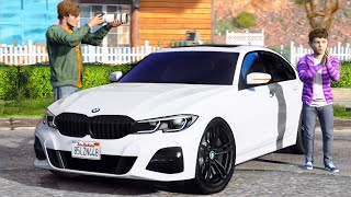 РЕАЛЬНАЯ ЖИЗНЬ В GTA 5 - КУПИЛ СЫНУ Б/У BMW 320d! АВТО С ПРОБЕГОМ! ПОДАРОК ДЛЯ МОЕЙ СЫНА!