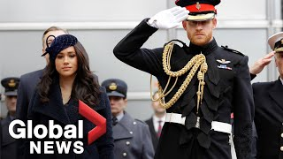 Meghan Markle, Prince Harry plant crosses in Westminster Abbey