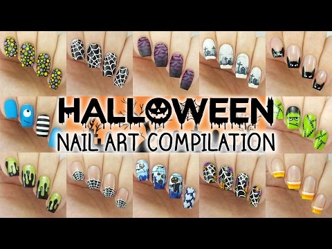 Halloween Nail Art Compilation | 12 Designs! - YouTube