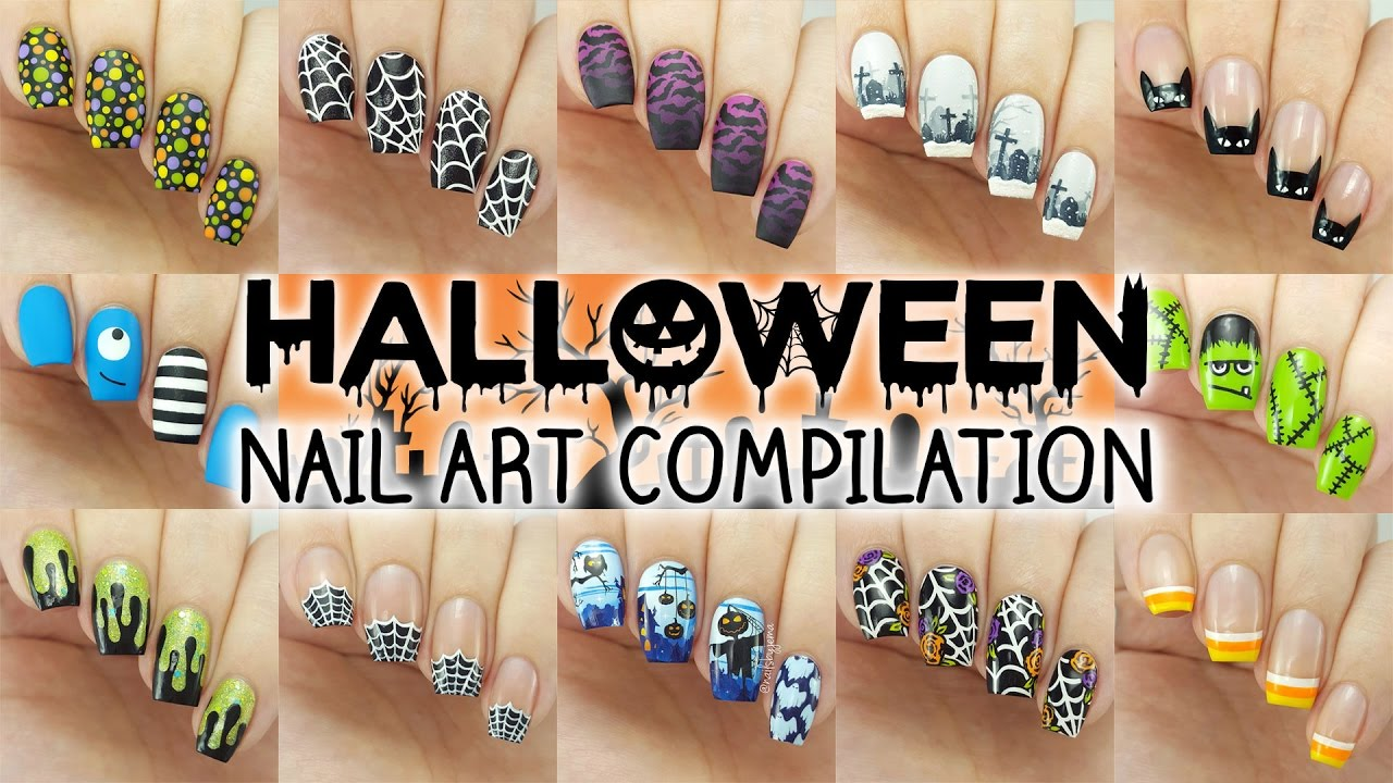 Halloween Nail Art Compilation | 12 Designs Perfect For ...