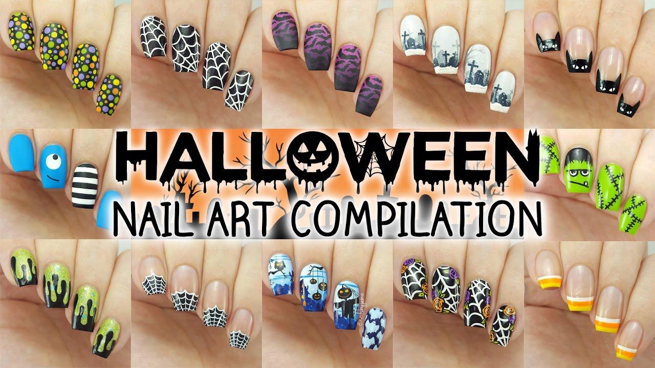 halloween nail art compilation