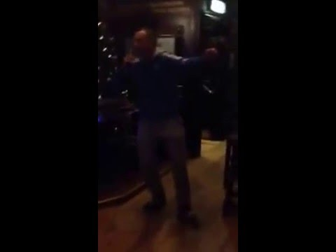Francis Jones Sparta Security Rent a Cop singing on Karaoke for Charity