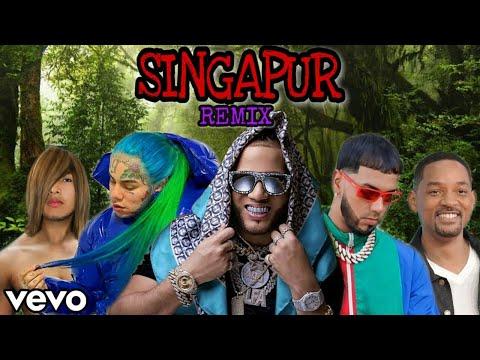 "Singapur REMIX – El Alfa ""El Jefe"" x 6ix9ine x Will Smith x Anuel AA x Faraón Love Shady"