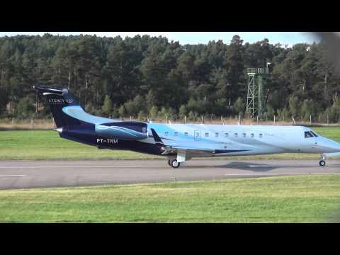 Embraer Legacy 650 (PT-TRN) @ Farnborough Airport (Hampshire, UK)