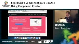JWC15 - Let's build a component in 30 minutes using Component Creator