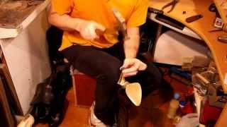 Ремонт обуви. Как поменять набойки. Замена набоек на шпильке часть 2
