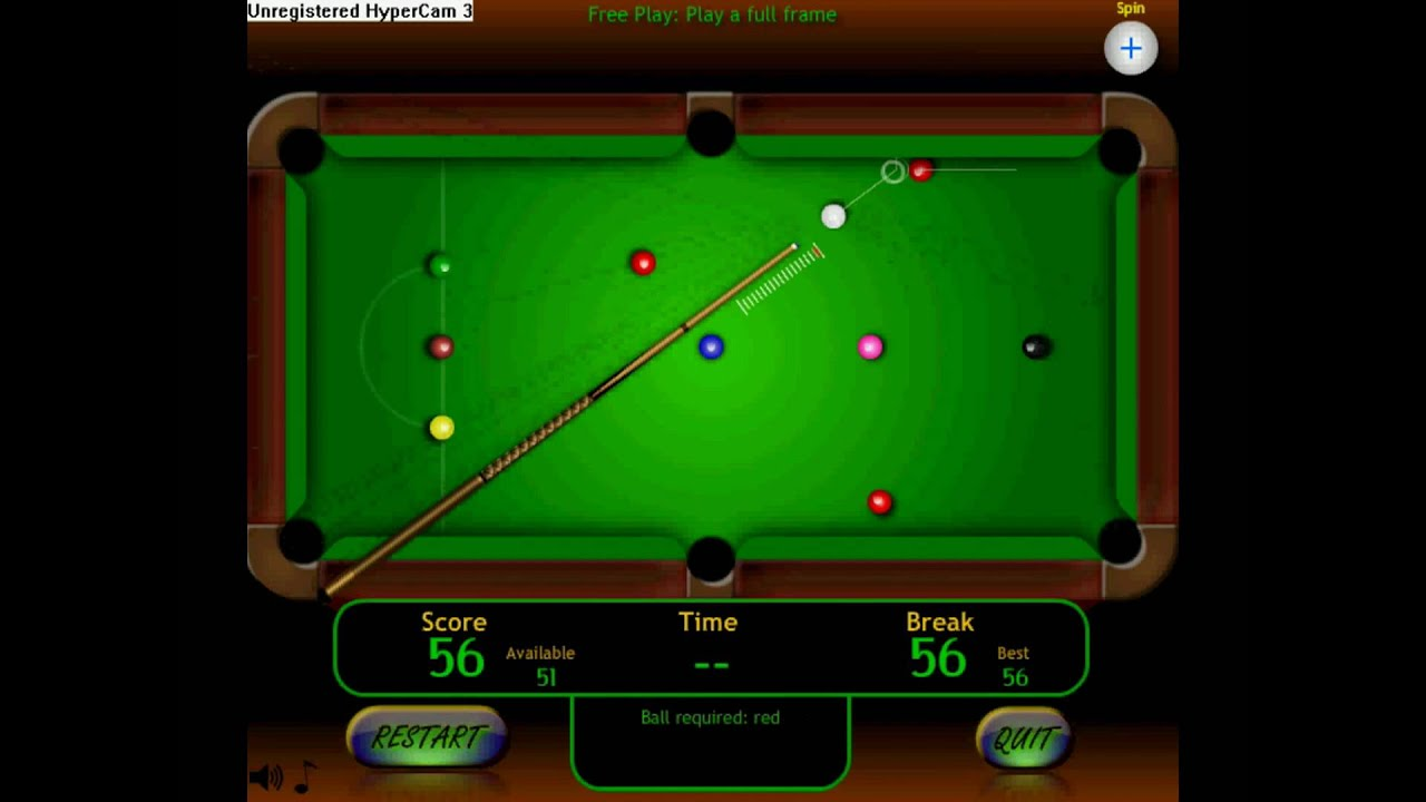Snooker Maximum Break