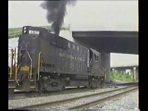 My Alco-MLW videos 1996 06 18 WW RS11 at Vardo Yard and on the road