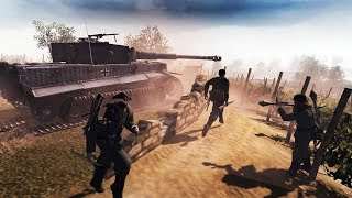 Тигр Ветеран Против 7 Танков! Американское Наступление!