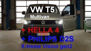 VW T5 Facelift делаем бомбовый свет  и как он превратился в Multivan