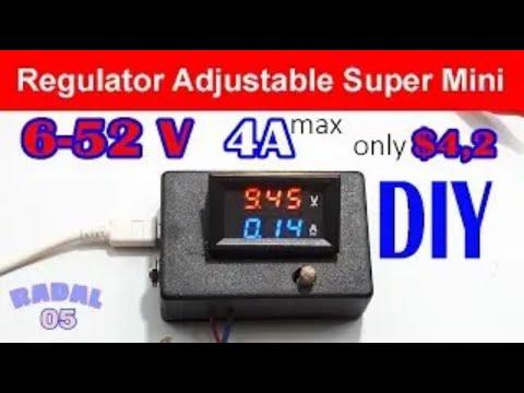 Lab Bench Power Supply 6V-52V 4A DIY Rangkaian Penaik Tegangan Ide Kreatif Regulator Adjustable