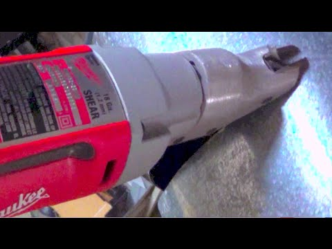 Milwaukee Shear 6852 20 Cutting Metal Round Duct Hvac