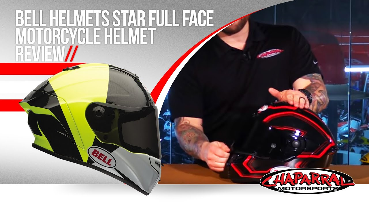 Bell Racing Helmets >> Bell Helmets Star Full Face Motorcycle Helmet Review - YouTube